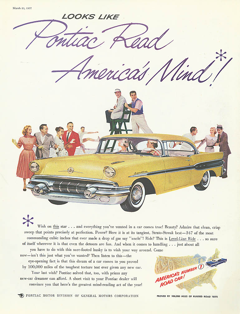 Looks Like Pontiac Read Amerca's Mind! Ad 1957