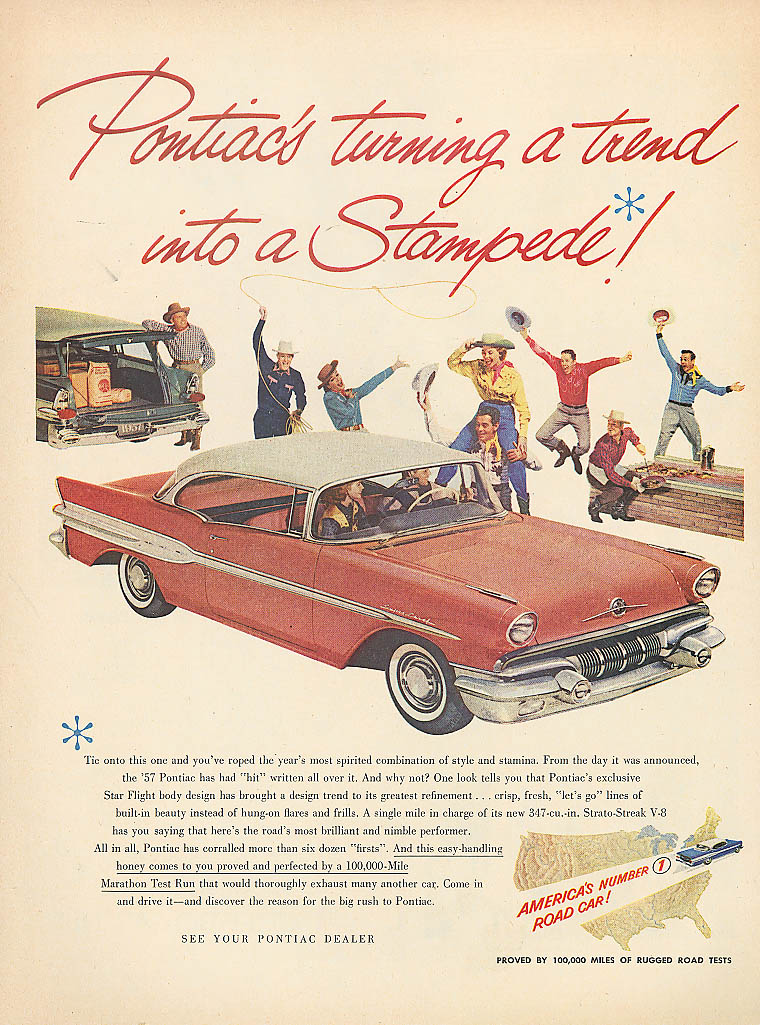 Turning a trend into a Stampede! Pontiac ad 1957