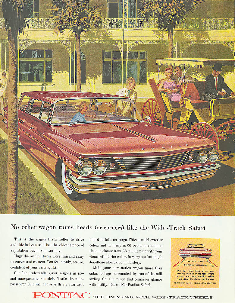 Image for No other wagon turns heads (or corners) Pontiac ad 1960