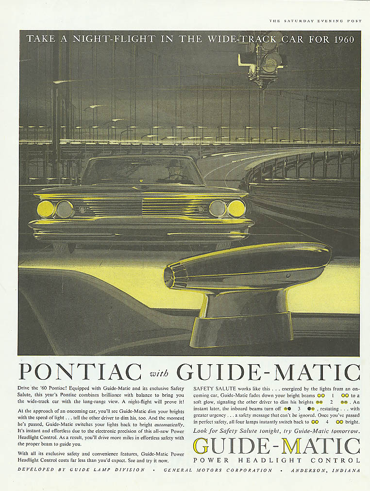 Image for Take a night-flight in Wide-Track Pontiac ad 1960