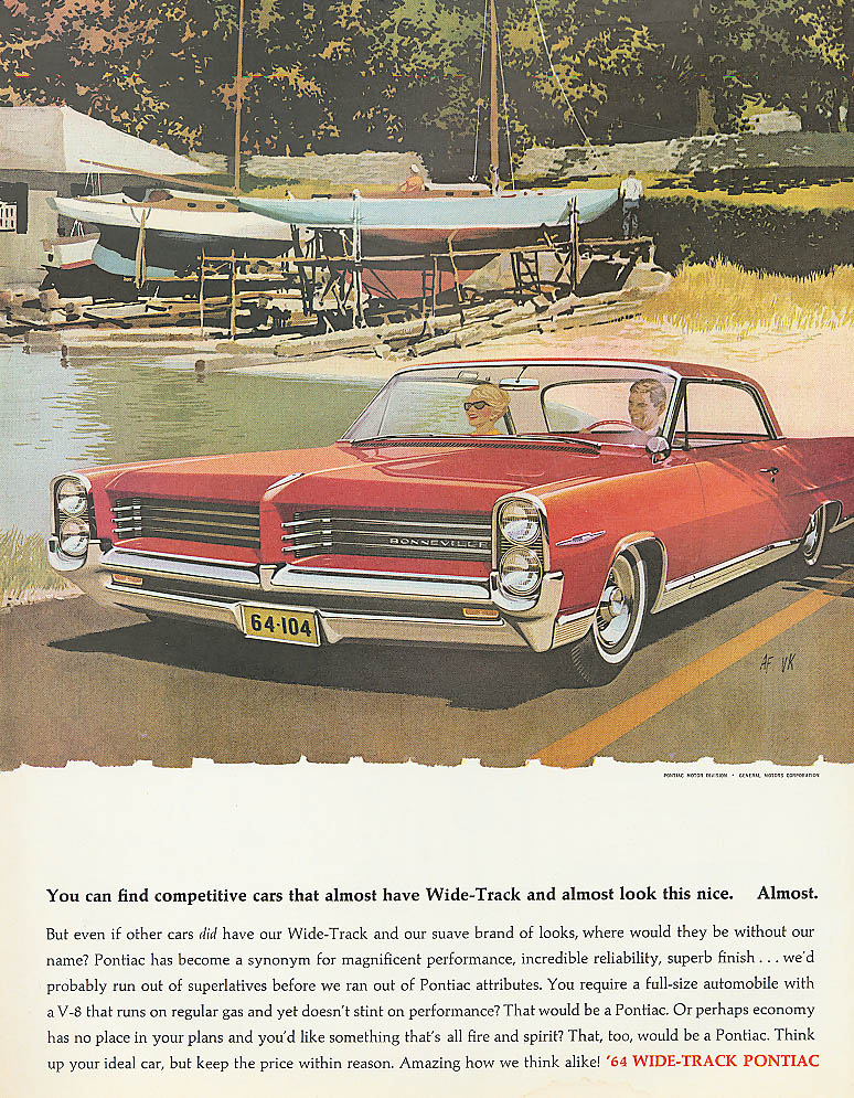 You can find competitive cars . almost Pontiac ad 1964