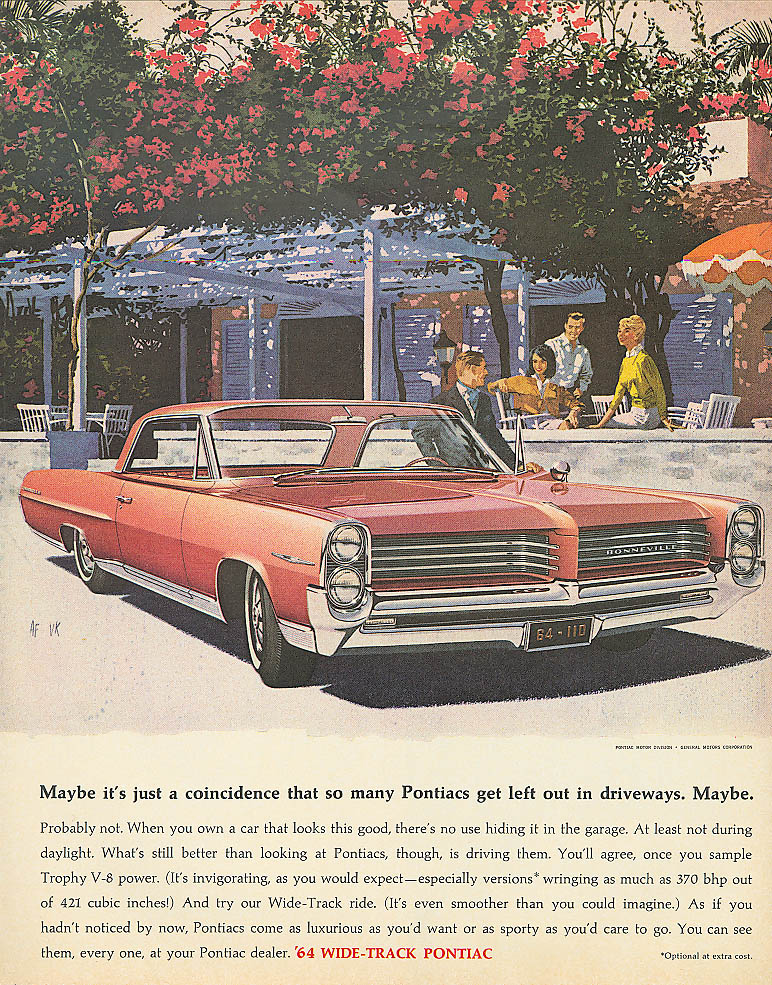 Maybe it's just a coincidence Pontiac ad 1964