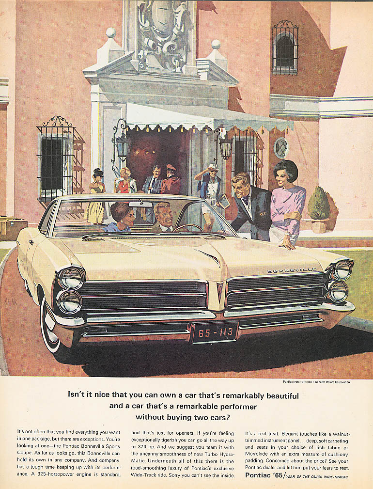 Image for Isn't it nice that you can own a Pontiac ad 1965