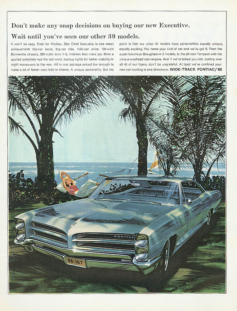 Image for Don't make any snap decisions Pontiac ad 1966