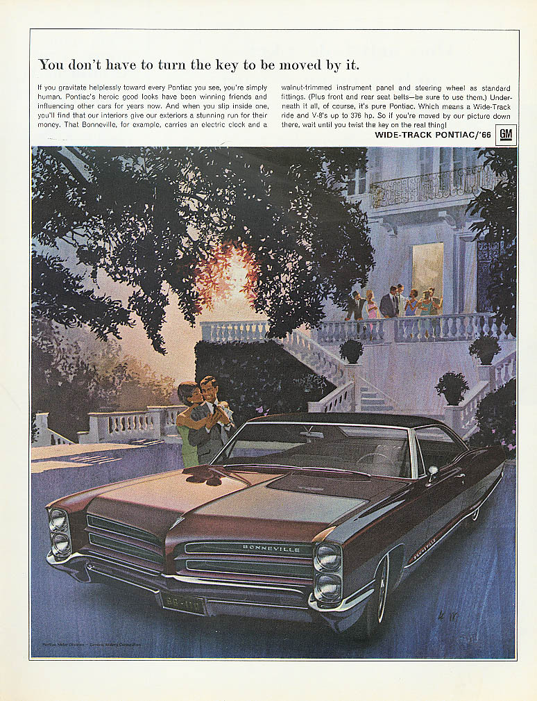 Image for You don't have to turn key to be moved Pontiac ad 1966
