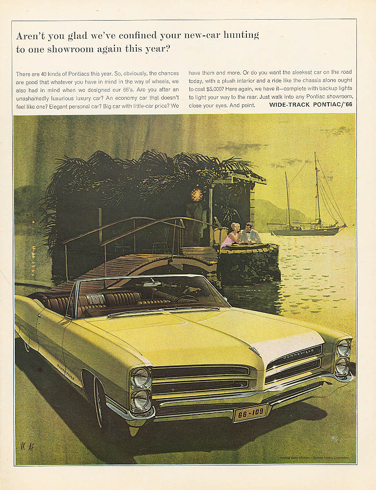 Aren't you glad we've confined? Pontiac ad 1966