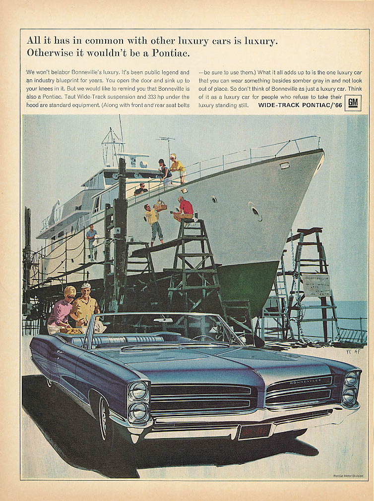 All it has in common with other cars Pontiac ad 1966