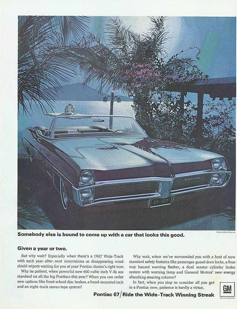 Somebody else is bound to come up Pontiac ad 1967