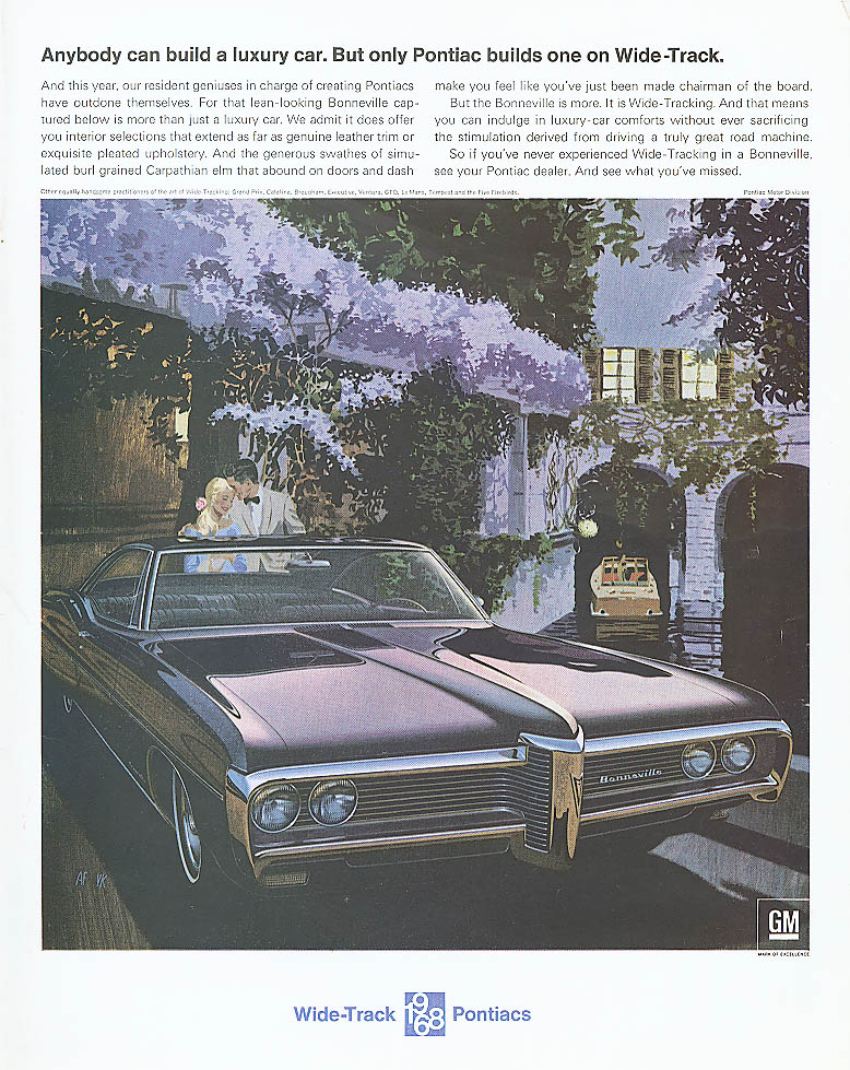 Anybody can build a luxury car Pontiac ad 1968