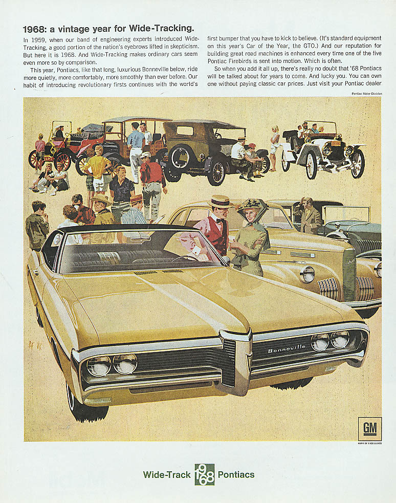 1968: a vintage year for Wide-Tracking Pontiac ad