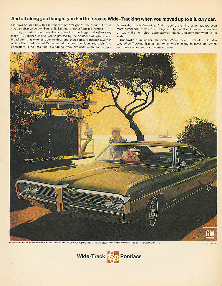 Thought you had to forsake Pontiac ad 1968