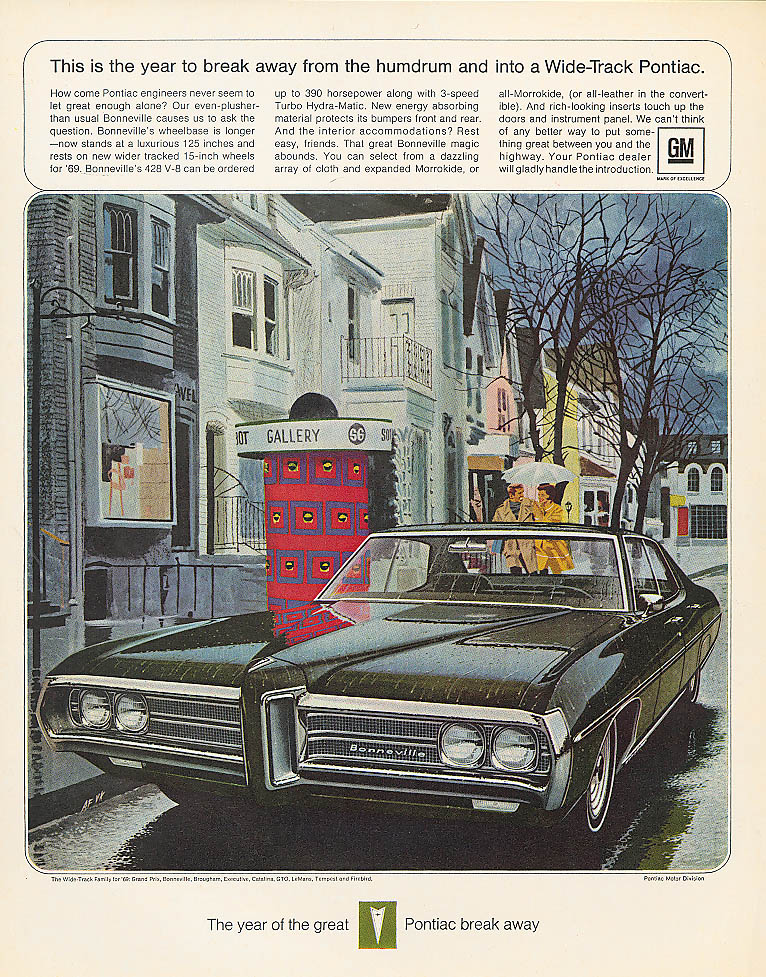 Break away from the humdrum Pontiac ad 1969