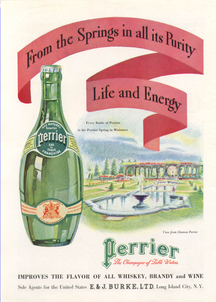 Image for From the Springs in all its Purity Perrier ad 1934