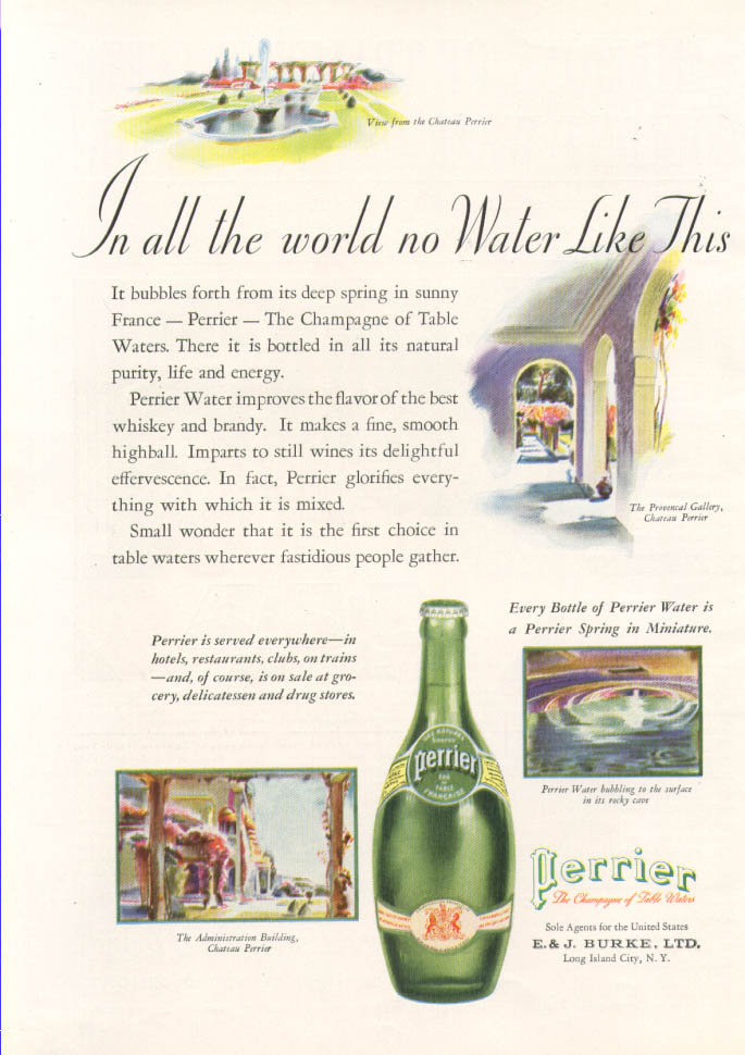 Image for In all the world no Water Like This Perrier ad 1934
