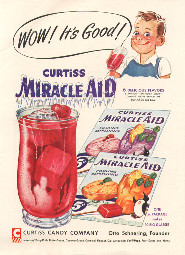 Image for Wow! It's Good! Curtiss Miracle-Aid ad 1954