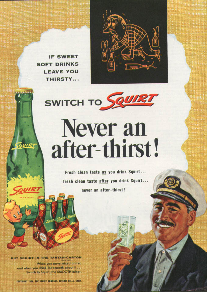 Image for Never an after-thirst! Switch to Squirt ad 1954 Skipper
