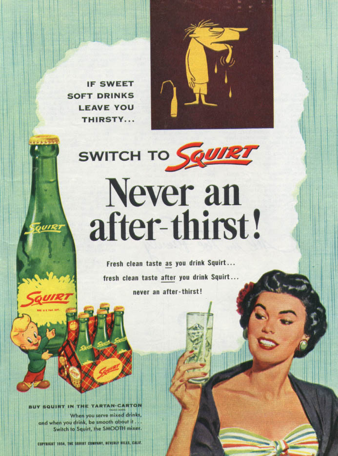 Image for Never an after-thirst! Switch to Squirt ad 1954 woman