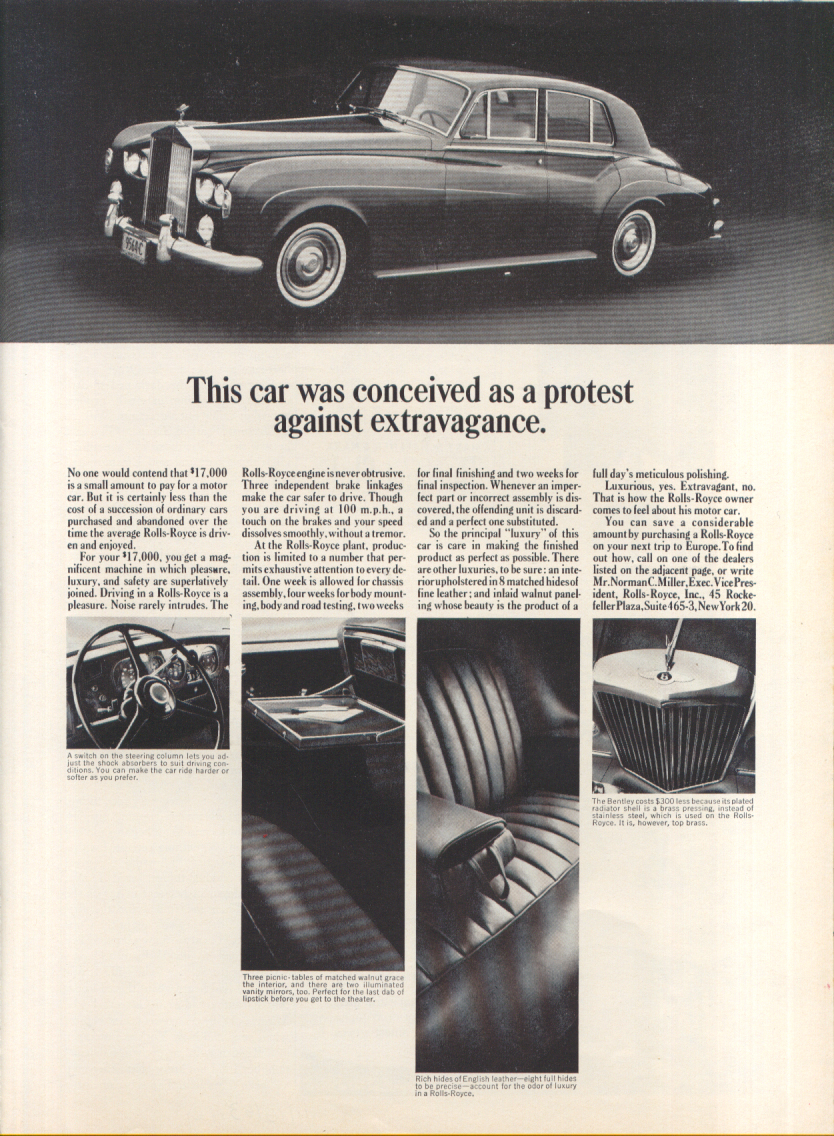 Image for This car was conceived as a protest Rolls-Royce ad 1963