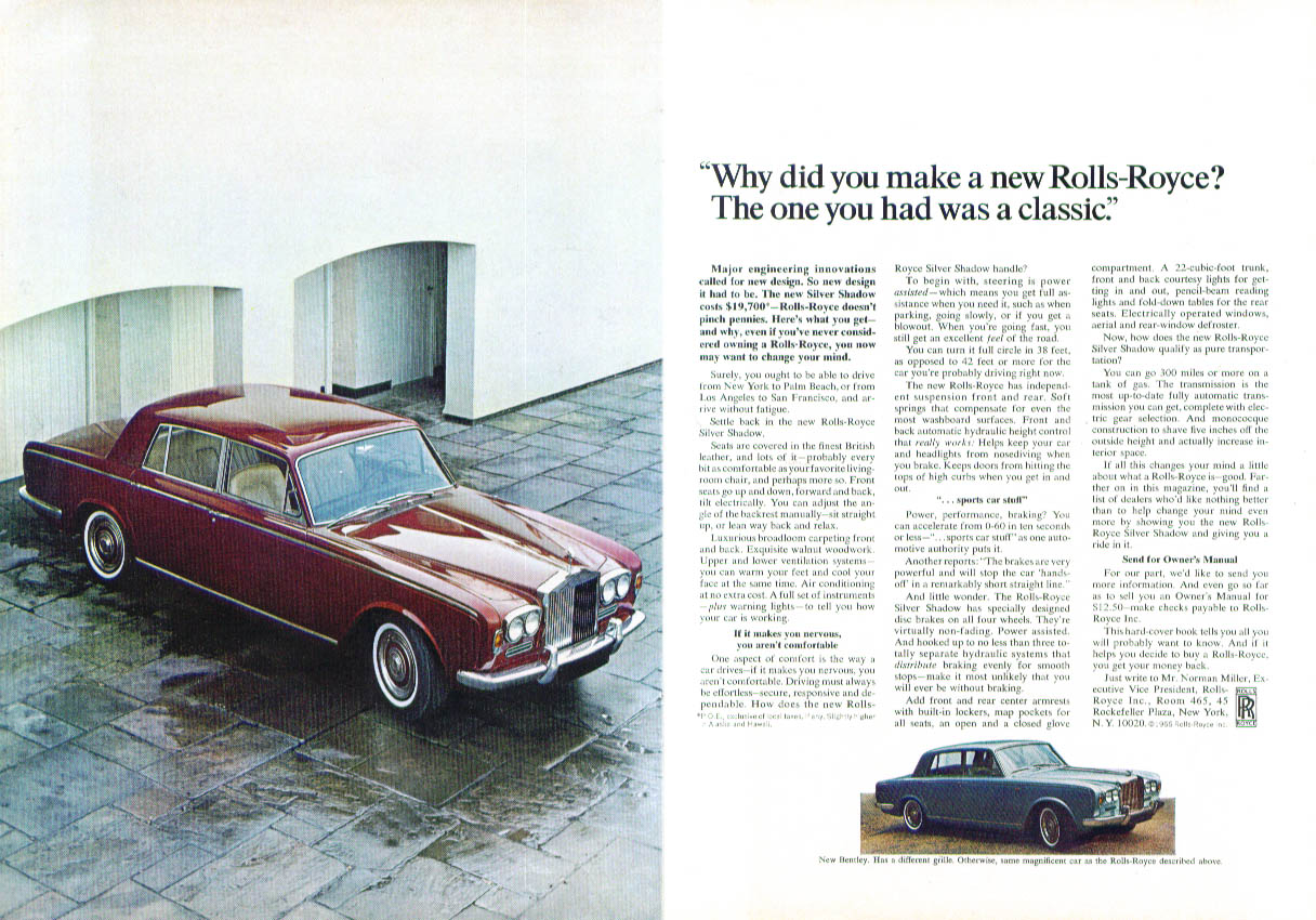 Why did you make a new Rolls-Royce? Ad 1966