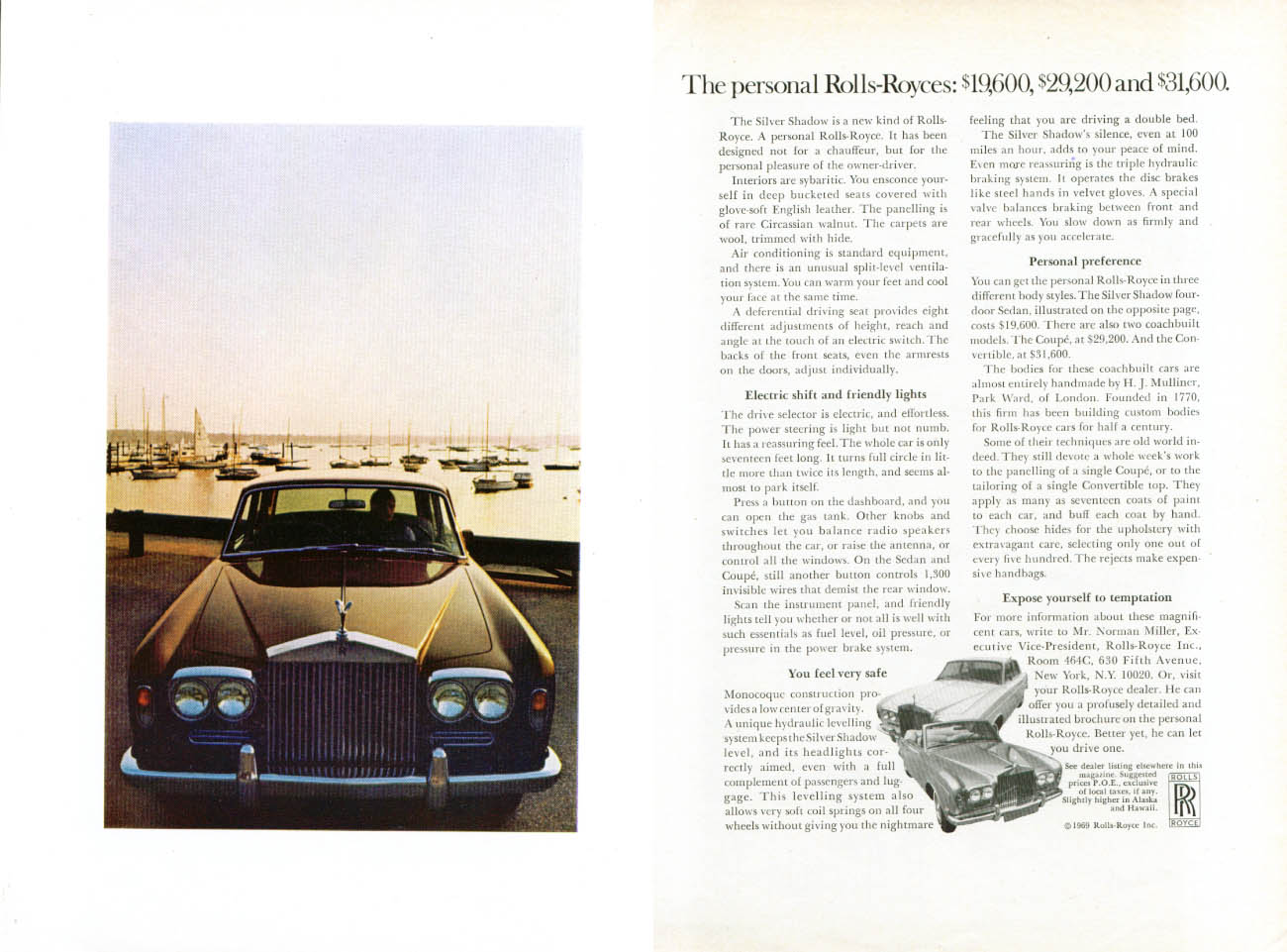 Image for Personal Rolls-Royces $19,600 $29,200 $31,600 ad 1969 2 page