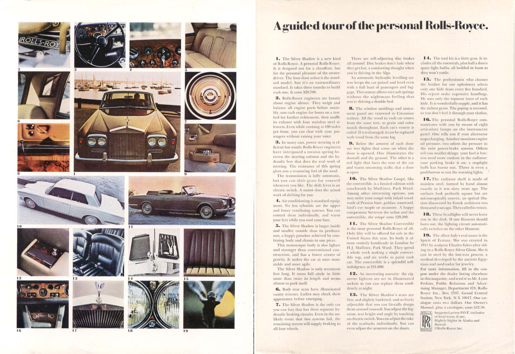 Image for A guided tour of the personal Rolls-Royce ad 1970