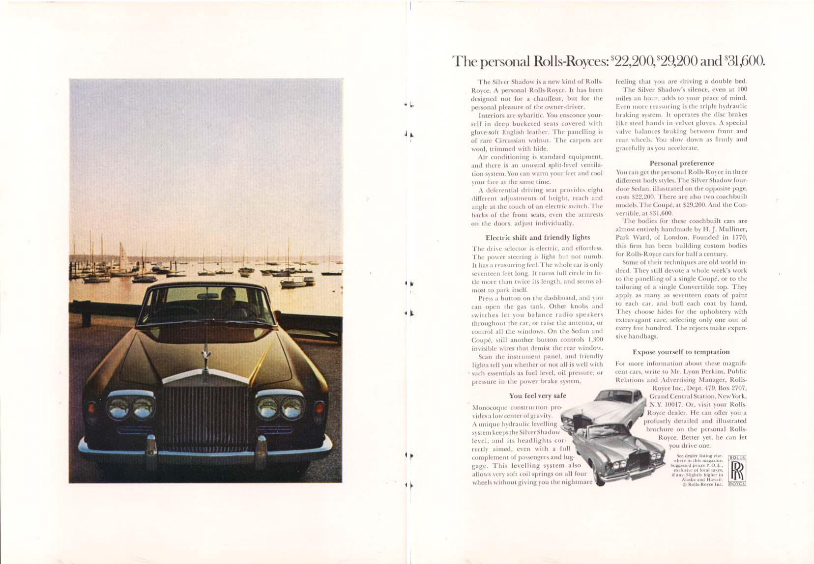 Image for Personal Rolls-Royce $19,600 $22,200 $31,600 ad 1970