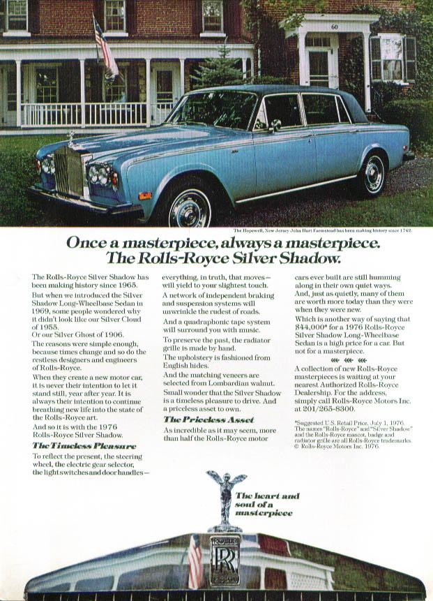 Always a masterpiece Rolls-Royce Silver Shadow ad 1976