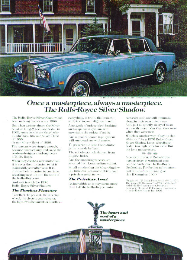 Once a masterpiece Rolls-Royce Silver Shadow ad 1977