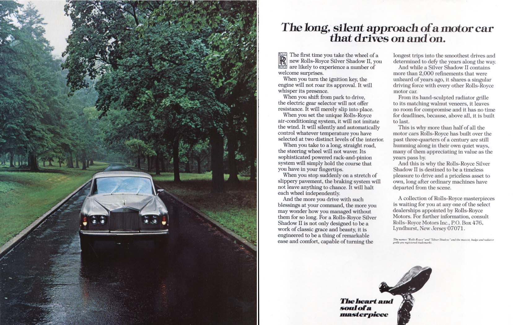 Image for The long silent approach of a Rolls-Royce ad 1979 1980