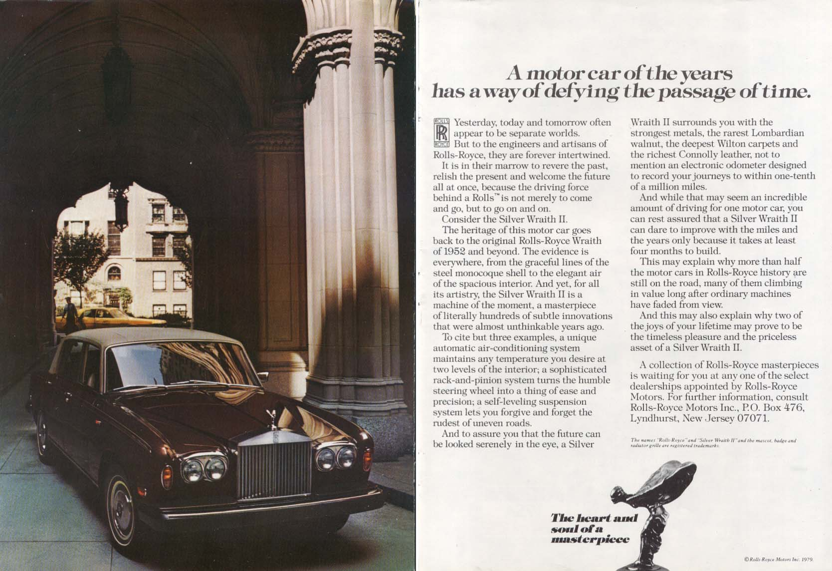A motor car of the years Rolls-Royce ad 1979