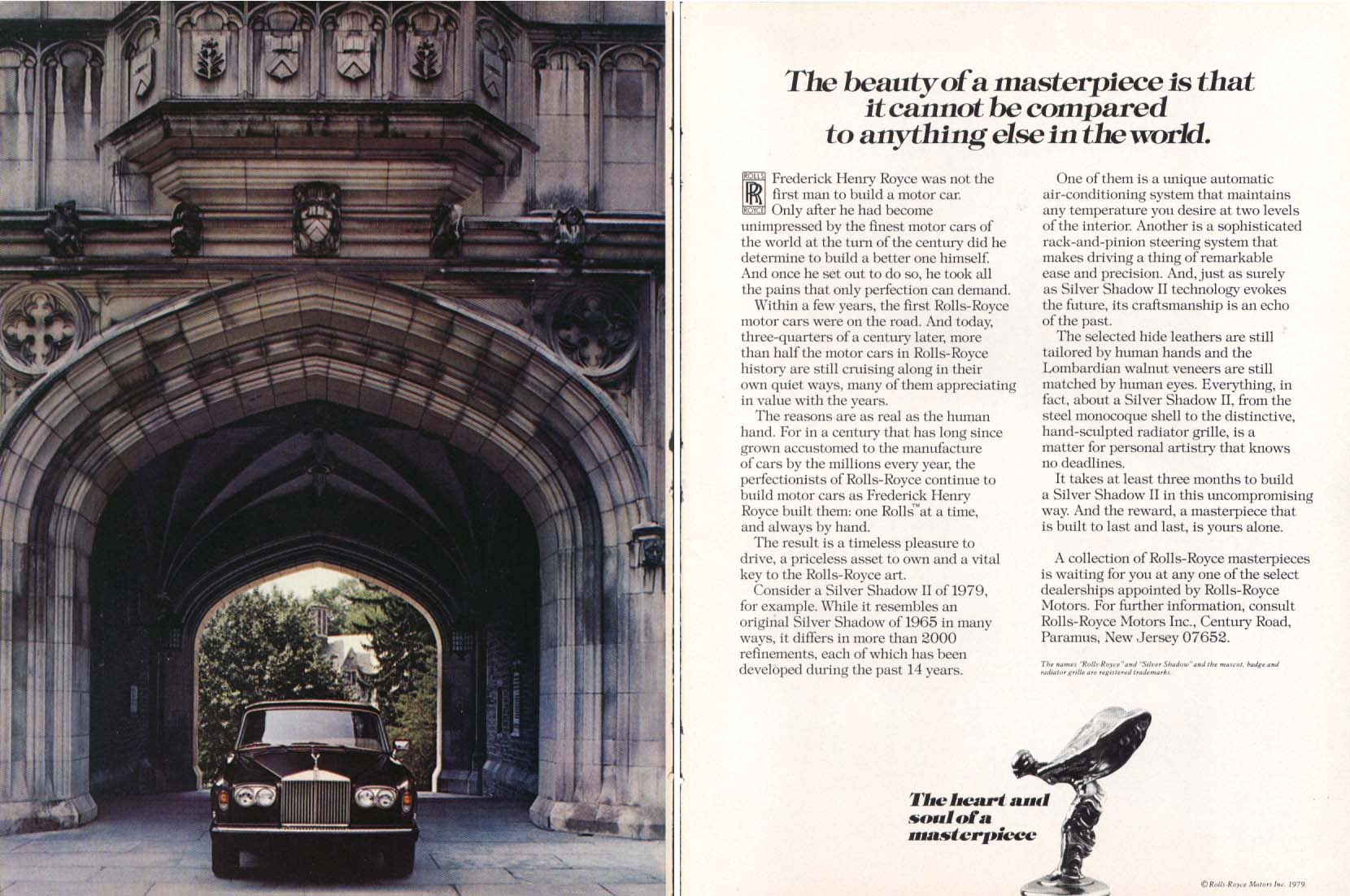 Image for The beauty of a masterpiece Rolls-Royce ad 1979