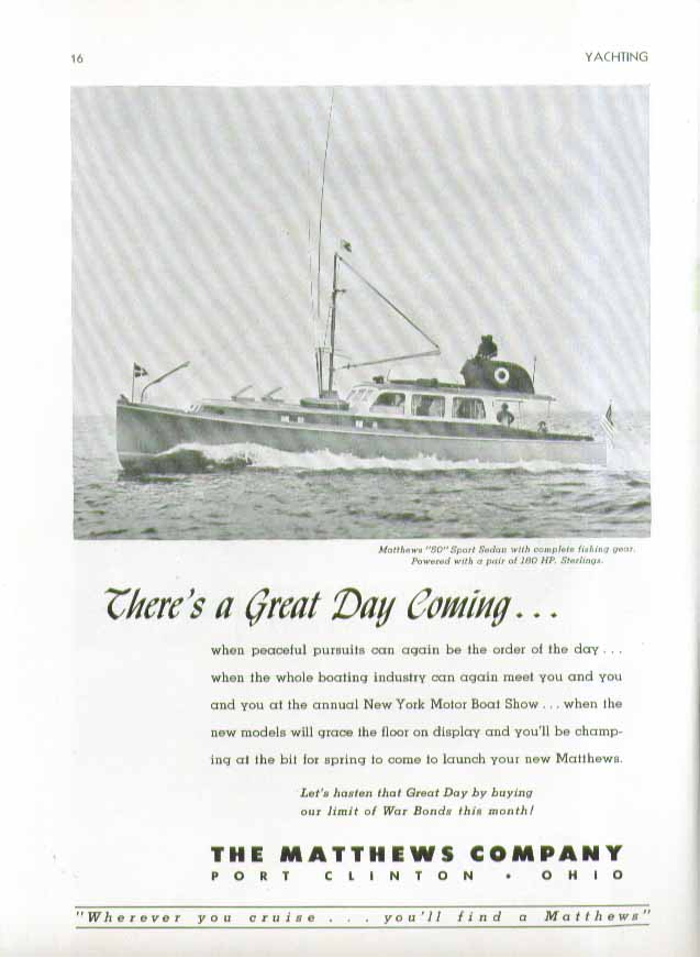 Image for What Yachtsmen Expect in the Cruiser of Tomorrow #3 Richardson Cruisers ad 1944