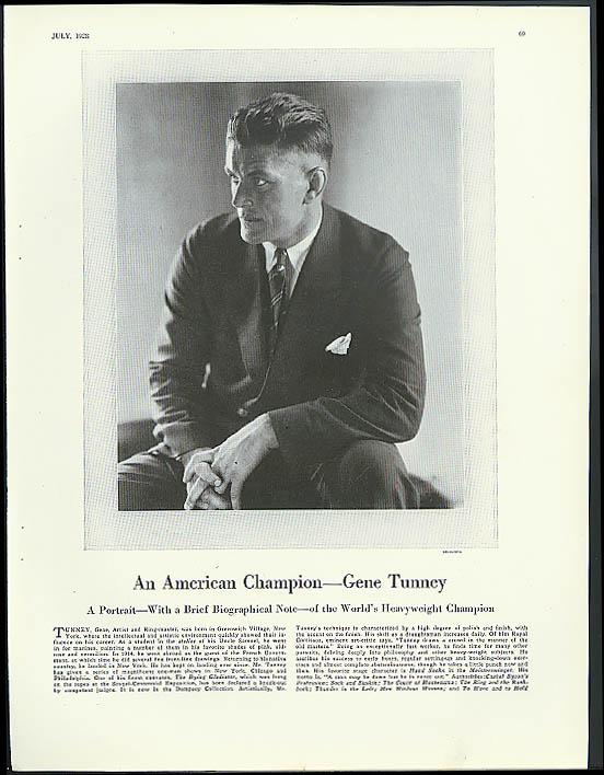 World Heavyweight Champion Gene Tunney by Edward Steichen 1938 Vanity Fair