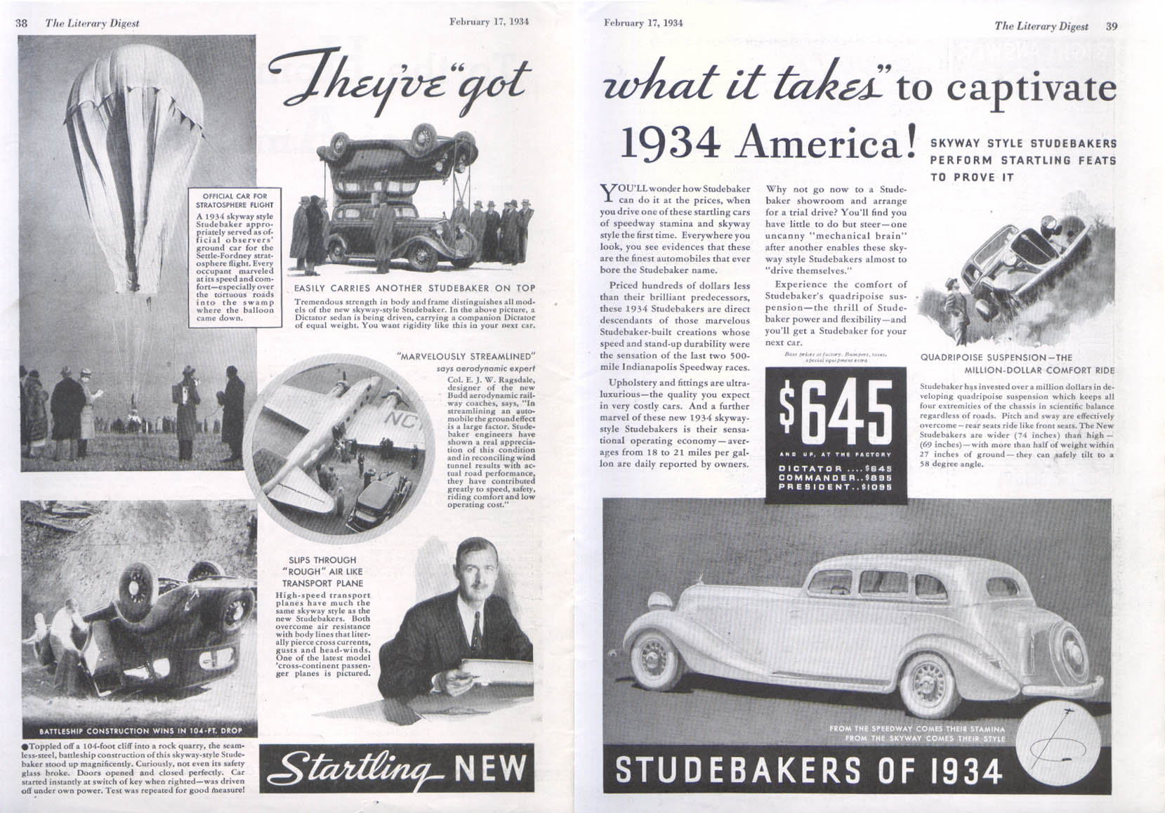 Image for They've got what it takes to captivate Studebaker ad 19