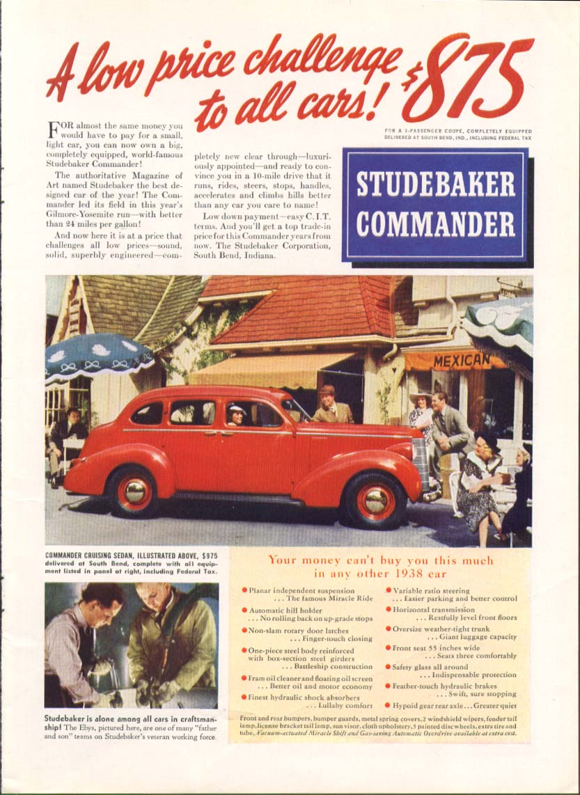 A low price challenge to all cars Studebaker ad 1938