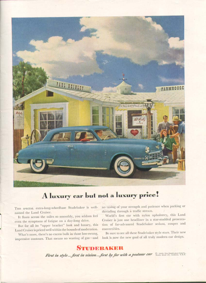 A luxury car not a luxury price! Studebaker ad 1948