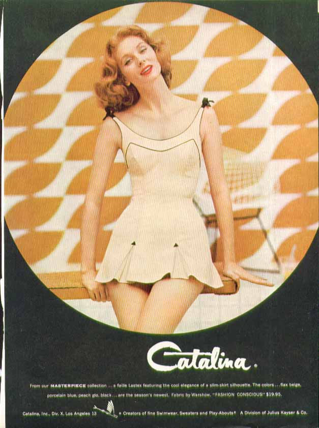 Image for From our Masterpiece collection Catalina swimsuit ad 1957 Suzy Parker