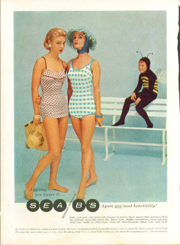 Any way you figure it Sea B's swimsuits figure you most beautifully ad 1957