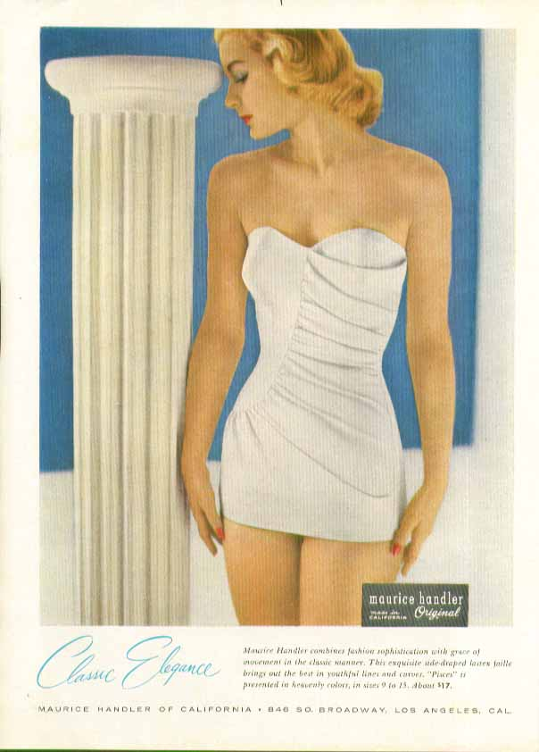 Image for Classic Elegance Maurice Handler Pisces swimsuit ad 1957