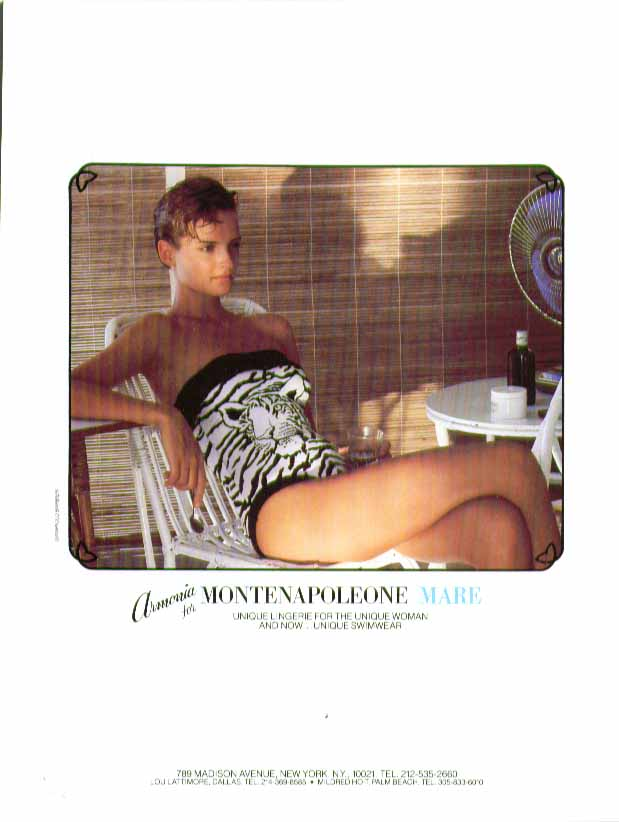 Armonia for Montenapoleone Mare swimsuit ad 1984