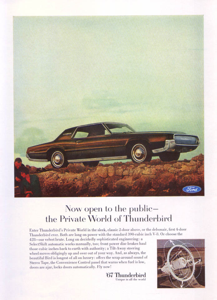 Image for Now open to the public Thunderbird ad 1967