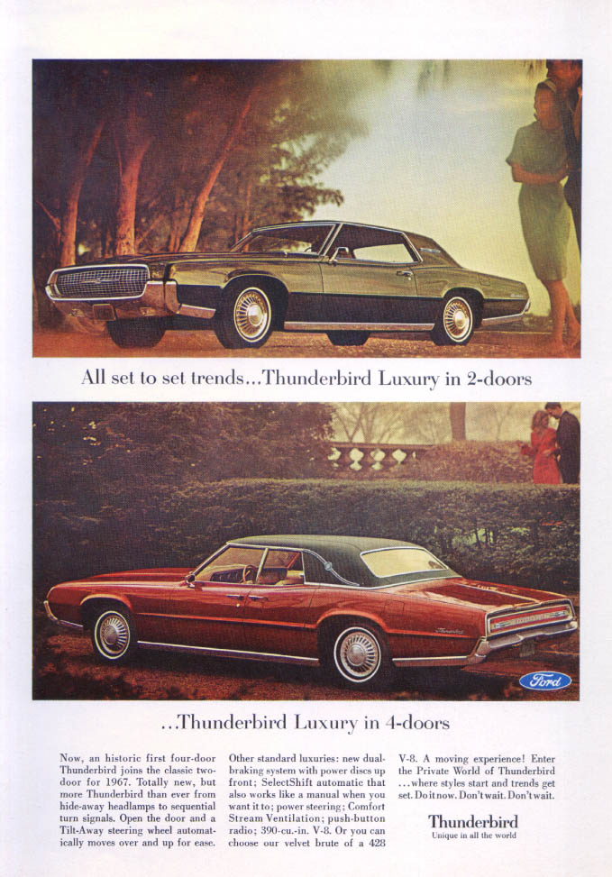 All set to set trends Thunderbird ad 1967
