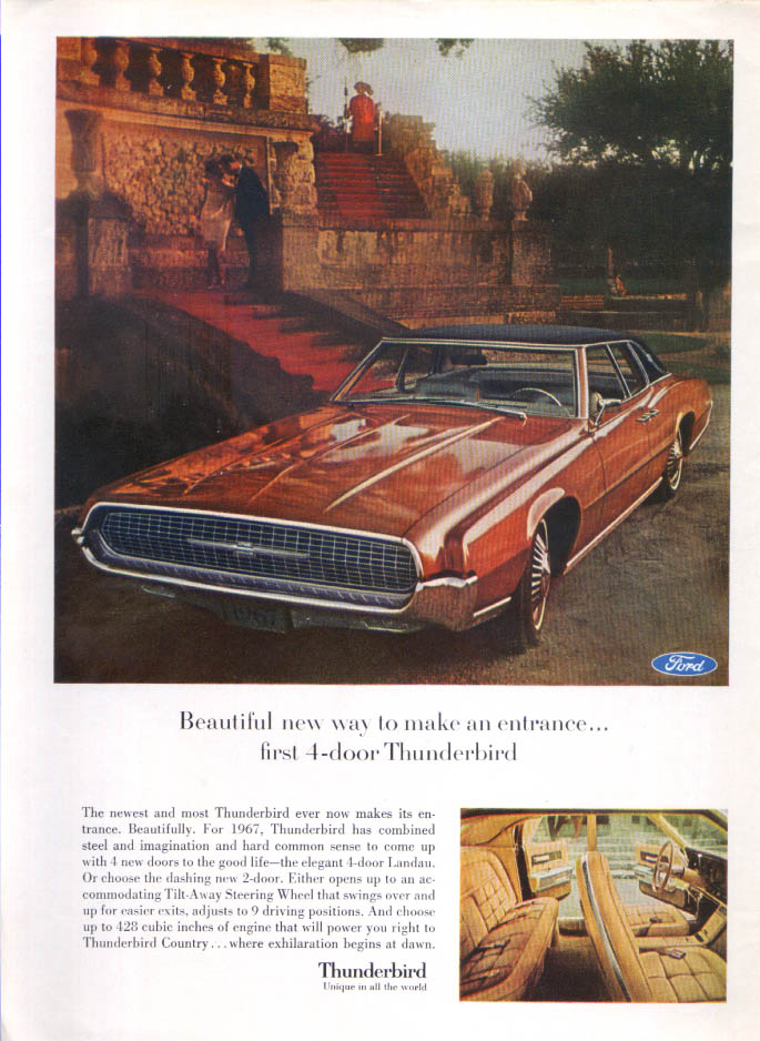 Image for Ford Thunderbird Beautiful way make an entrance ad 1067