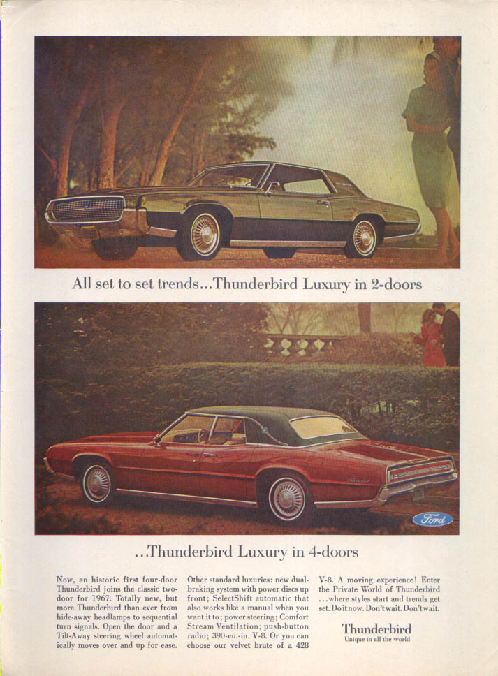 Image for Ford Thunderbird Luxury Set trends ad 1967