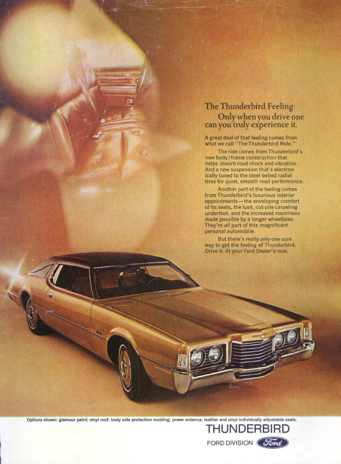Image for Ford Thunderbird Feeling truly experience ad 1970