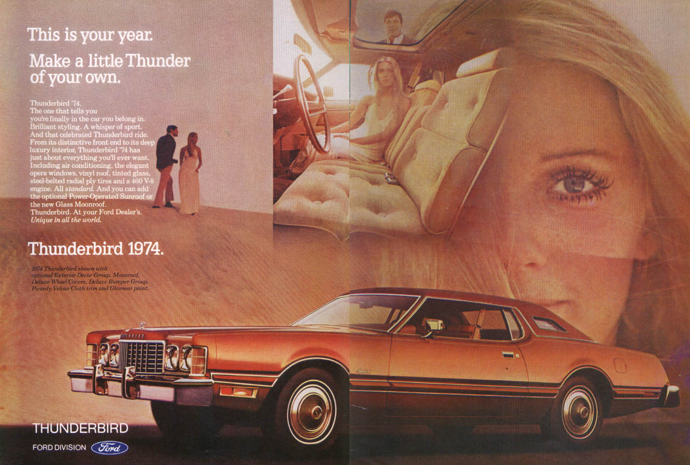 Ford Thunderbird Make Thunder Of Your Own Ad 1974