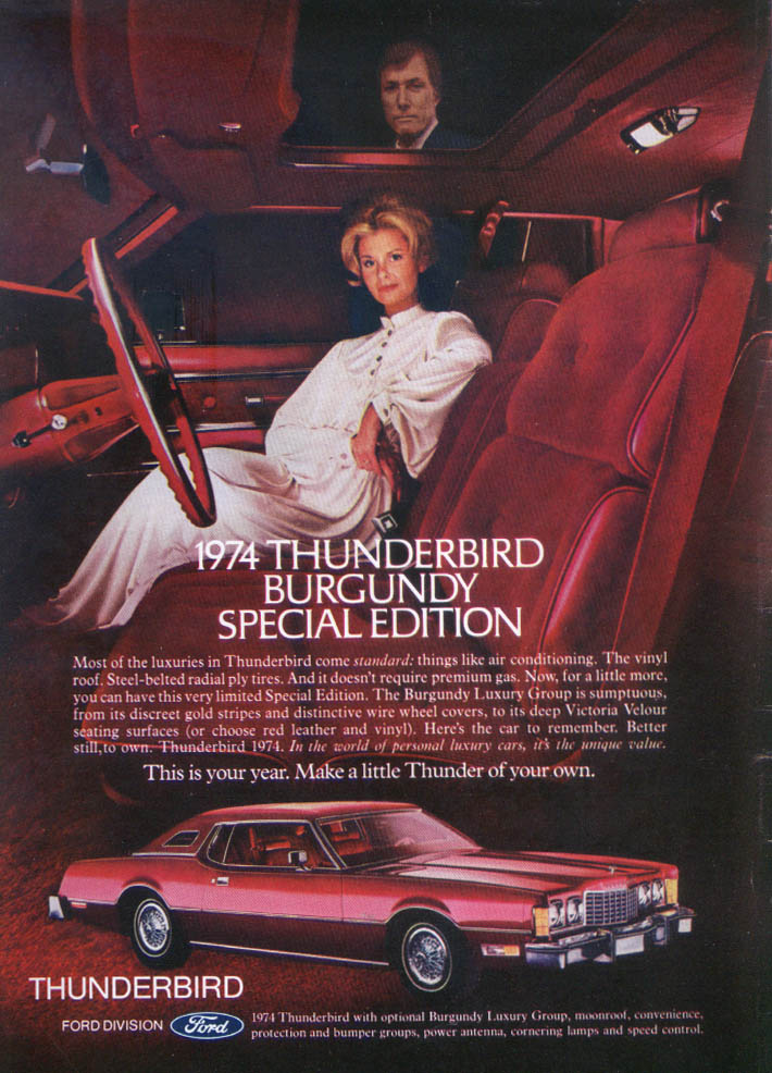 Image for Ford Thunderbird Burgundy Special Edition ad 1974