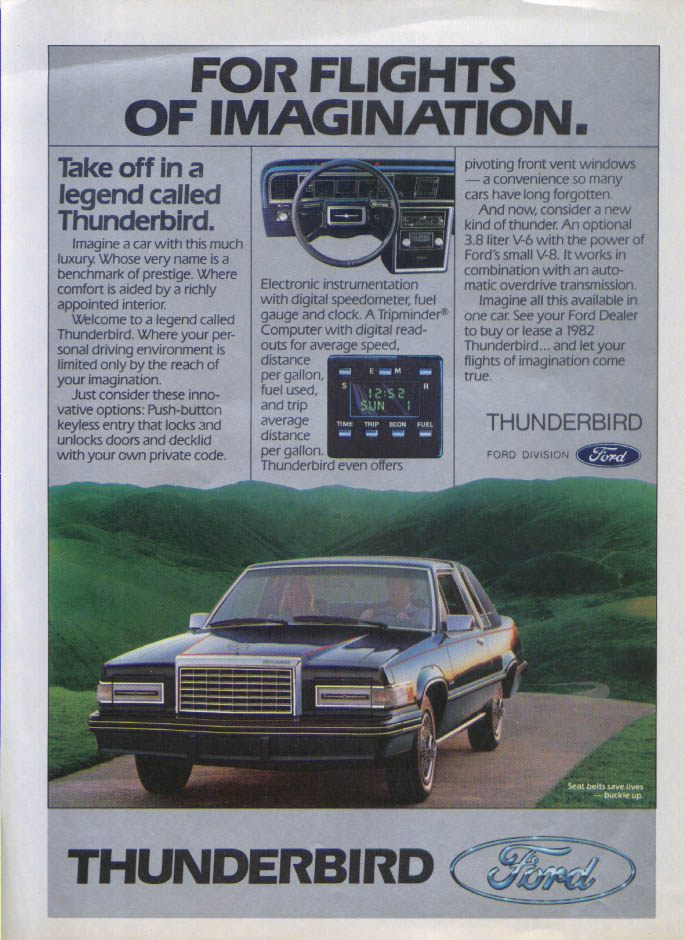 Image for Ford Thunderbird For Flights of Imagination ad 1982