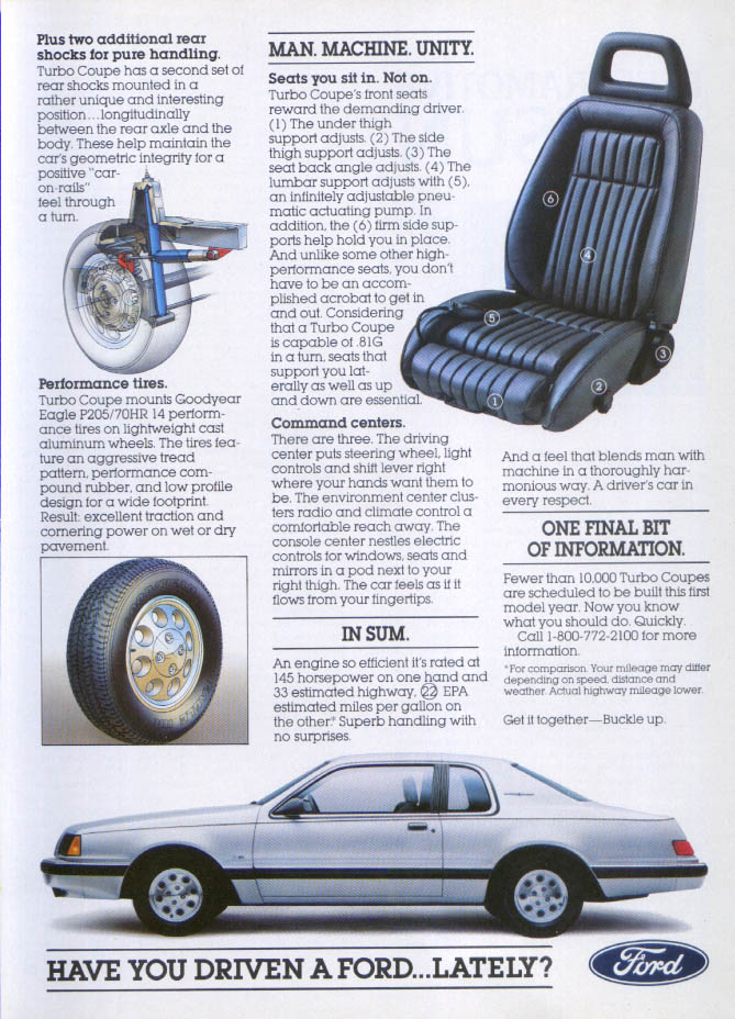 Image for Ford Thunderbird Have You Driven Lately? Ad 1983