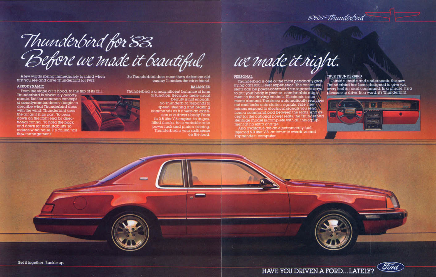 Ford Thunderbird before we made it beautiful ad 1983